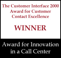 Award for Innovation in a Call Center